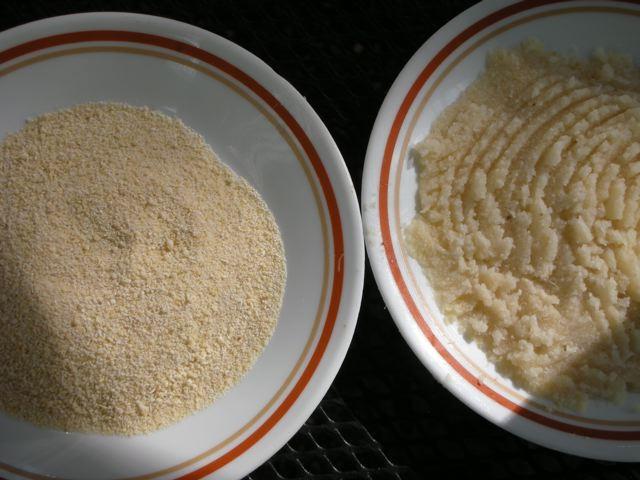 Essa é a aparência do Garri. Essa é uma comida popular no oeste africano feita de tubérculos de cassava, um arbusto amiláceo que é uma fonte popular de carboidratos para os ganenses.